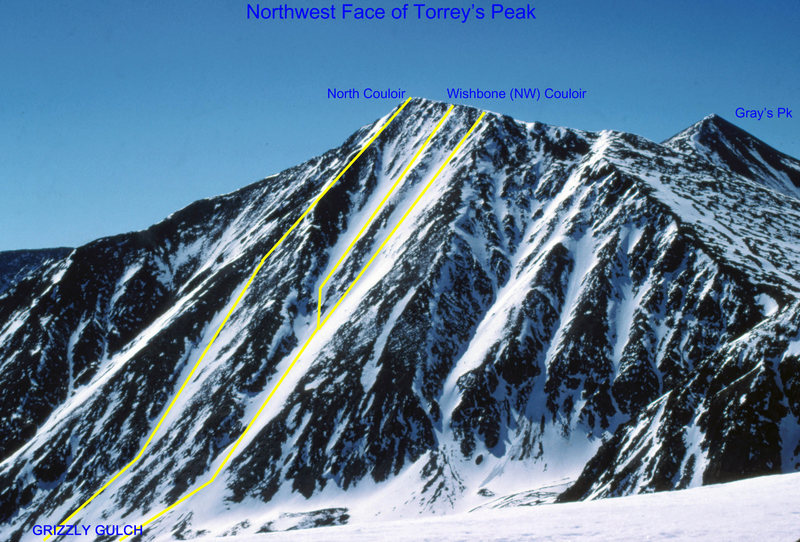 Rock Climbing Photo: The NW Face of Torrey's Peak offers some of the lo...