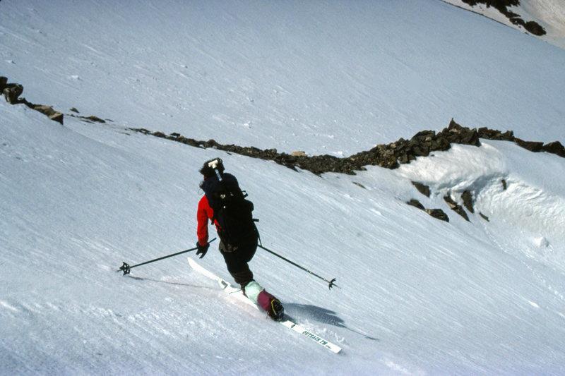 Rock Climbing Photo: The NE Fork of Torrey's Wishbone Couloir just abov...
