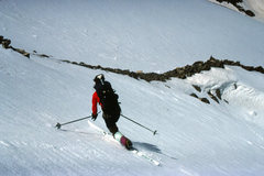 Rock Climbing Photo: The NE Fork of Torrey's Wishbone Couloir just abov...
