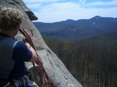 Rock Climbing Photo: At the belay getting ready to start pitch 2