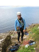 Rock Climbing Photo: Rob at Fairhead, Northern Ireland. (Fairhead is li...