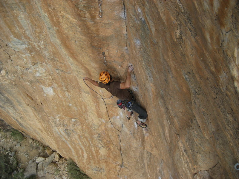 Rock Climbing Photo: Eric Ruljancich working for the red point.