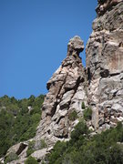 Rock Climbing Photo: The route ascends the west skyline arete.