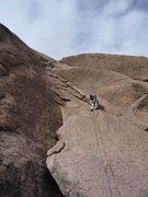 Rock Climbing Photo: Starting the crack.