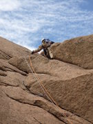 Rock Climbing Photo: Past the crux and feeling good.