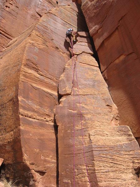 Brian Verhulst atop the Flake.
