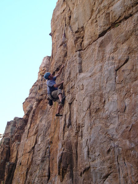 My cracker ass cracking the safe the easy way, with pre-placed gear..Outstanding route...<br> <br> <br> <br>