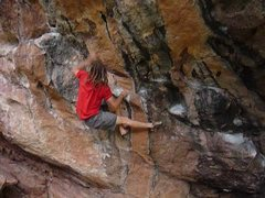 Rock Climbing Photo: Crux move on Bongo (Fury?).