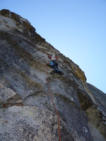 Rock Climbing Photo: Low on the first pitch.