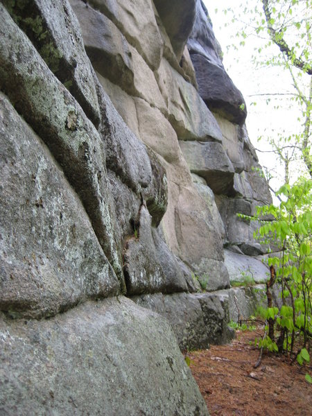 Rock Climbing Photo: base of the land of overhangs