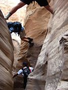 Rock Climbing Photo: making your own route at any level
