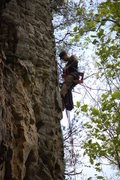 """Rock Climbing Photo: Chris Sierzant getting started bolting """"Littl..."""