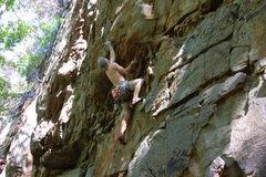 Rock Climbing Photo: Bradley clippin in.