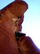 Rock Climbing Photo: Andrew on  pitch 3 of Turkish Bride, approaches th...