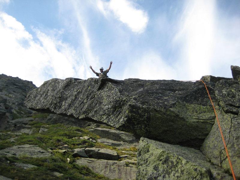 "me on ""the diving board"" hendersons ridge in huntington ravine"