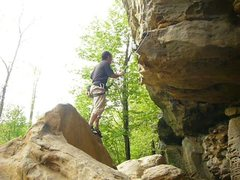 Rock Climbing Photo: The dyno start to Toker at the Bob Marley Wall. Th...