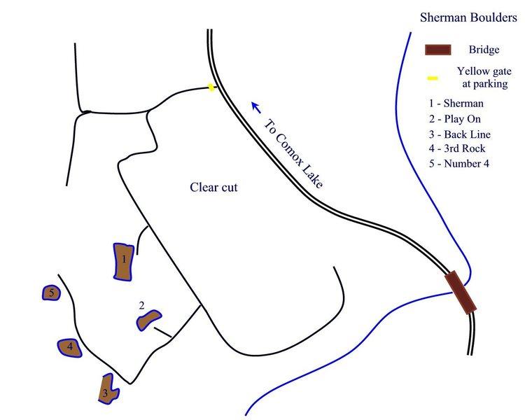 Sherman Boulders Topo