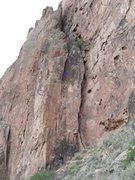 Rock Climbing Photo: Bob's Buttress Crack follows the crack up to the a...