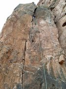 Rock Climbing Photo: Dan at the alcove and anchors for Bob's Buttress C...