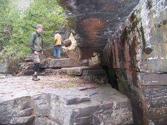 Rock Climbing Photo: John on the route