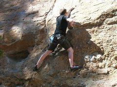 Rock Climbing Photo: LOWER HALF OF RAIN DANCE CRACK