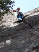 Rock Climbing Photo: Nearing the top of the perfect crack.