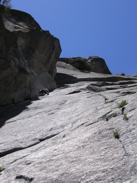 Rock Climbing Photo: First pitch of Moratorium