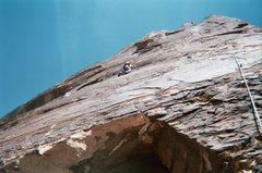 Rock Climbing Photo: Ed at the crux