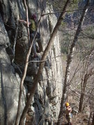 Rock Climbing Photo: First Ascent ADK Lower Stone Face Rib   Made in th...