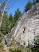 Rock Climbing Photo: A good overview of the upper section of Funarama.