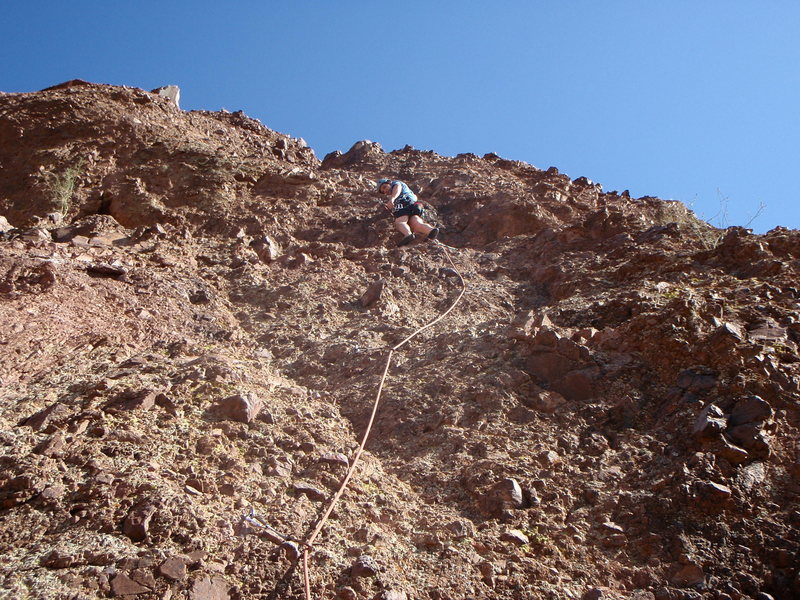 Rock Climbing Photo: Climbing in 104 degrees -