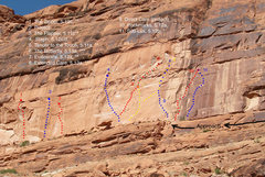 Rock Climbing Photo: The Scar from Potash Road. Just right of the photo...