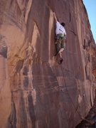 Rock Climbing Photo: The Circus-move crux of Sub-lux.