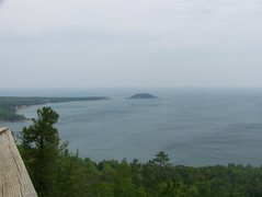 Rock Climbing Photo: Little Presque isle from th top of sugarloaf