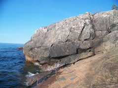 Rock Climbing Photo: the water crack is in the middle