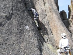 Rock Climbing Photo: The start of the route.  The climbing here is 5.7i...