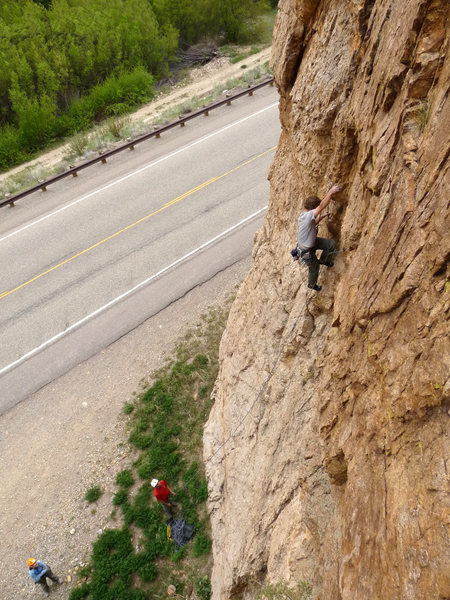 Rock Climbing Photo: True to the name of the area, just a few minutes b...