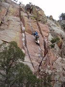 Rock Climbing Photo: Cruising the crux.