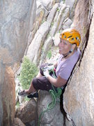 Rock Climbing Photo: Cindy at the comfortable second belay.