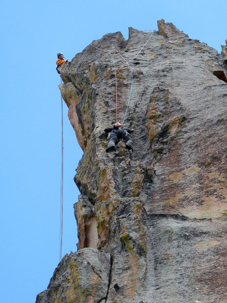 Rock Climbing Photo: The heavily featured and exposed third pitch.
