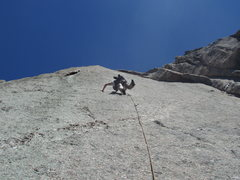 Rock Climbing Photo: Running it out up the second pitch. Photo: Mark Ro...