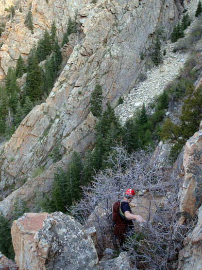 """Rock Climbing Photo: """"Hike"""" from the top of Steort's Ridge to..."""