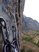 Rock Climbing Photo: Rappel 2 off of Steort's