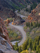 Rock Climbing Photo: View of the S-curve on Big Cottonwood Canyon road ...