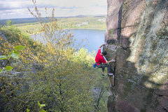 Rock Climbing Photo: Isaac Therneau on his send of Son of the Great Chi...