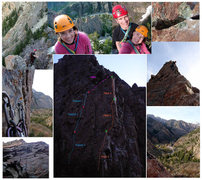 Rock Climbing Photo: Photo collage of the route
