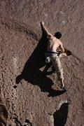 "Rock Climbing Photo: Pulling the ""crux"""