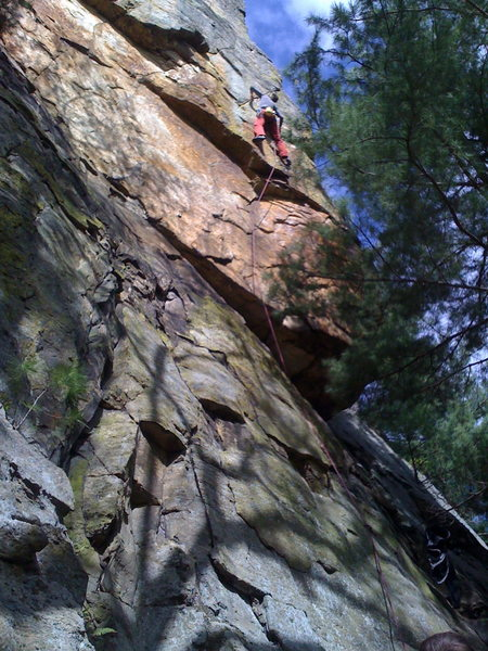 Rock Climbing Photo: Ellen getting after it.