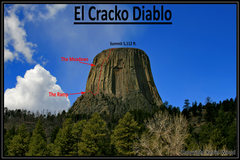 Rock Climbing Photo: A look at the climb from the Belle Fourche River V...