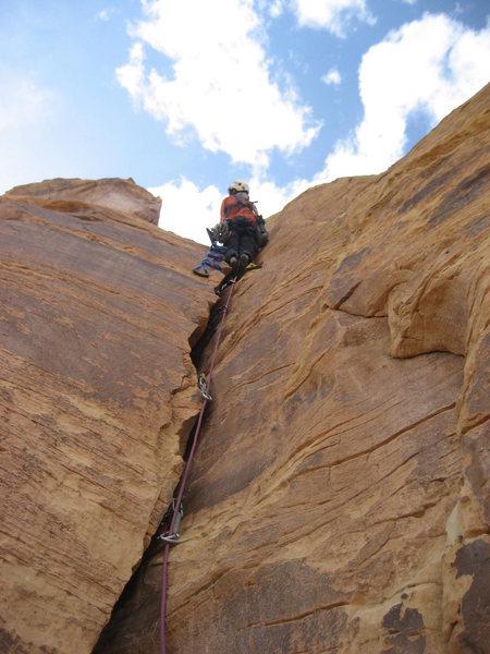 Rock Climbing Photo: starting second pitch